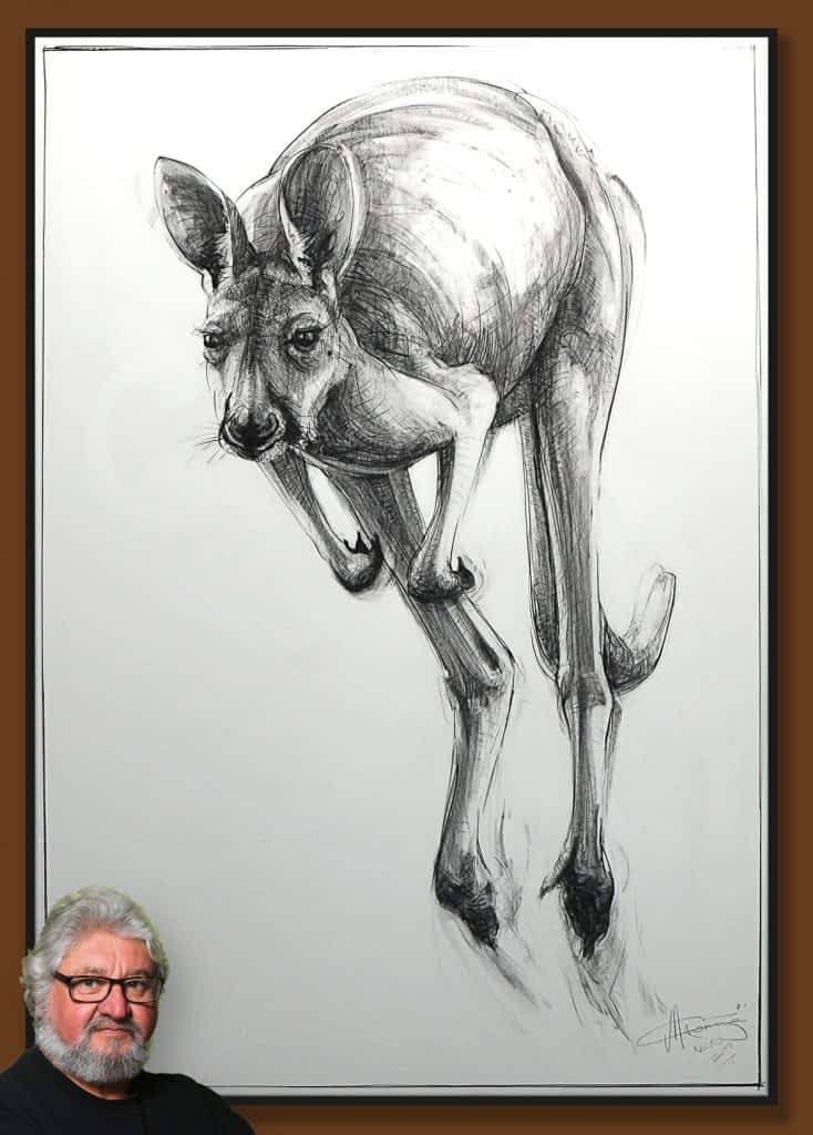 Drawing-of-Kangaroo-55 with Michael Chorney