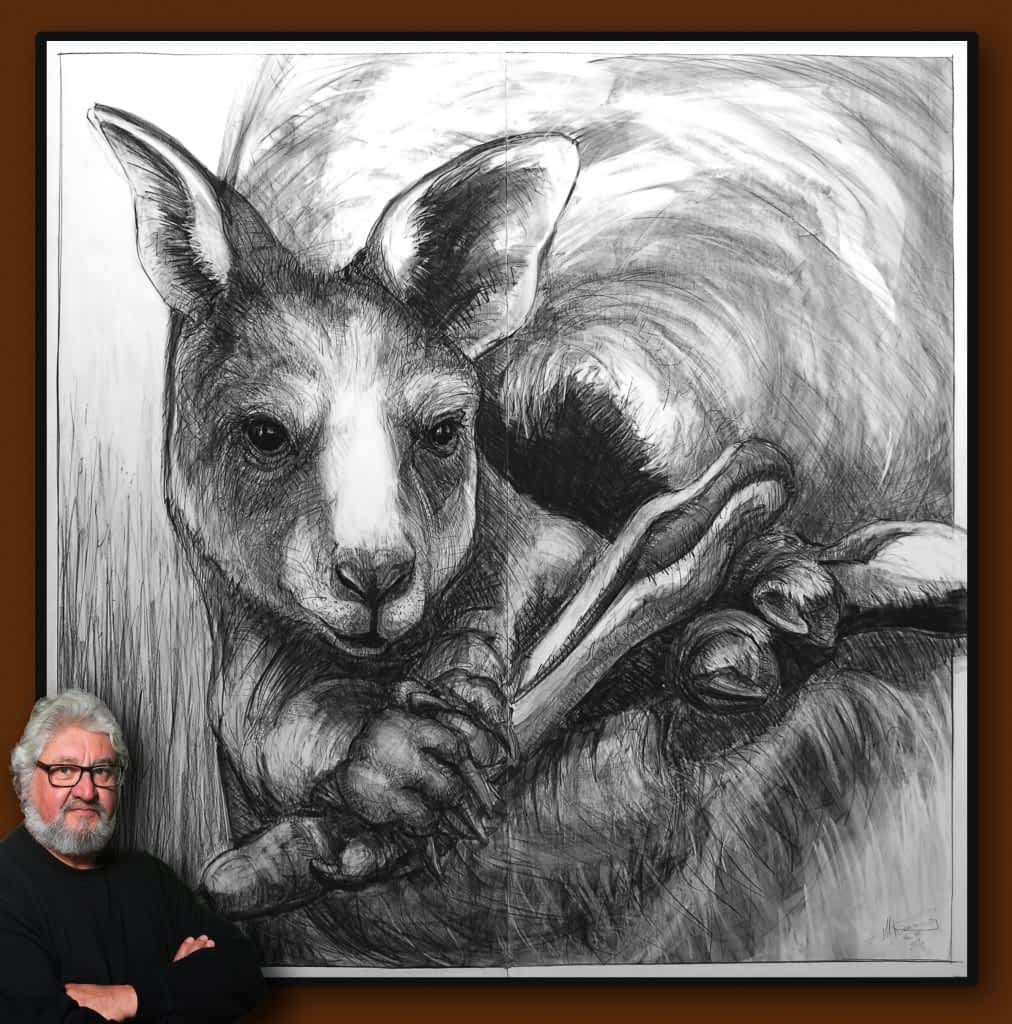 Drawing-of-Kangaroo-56-with Michael Chorney