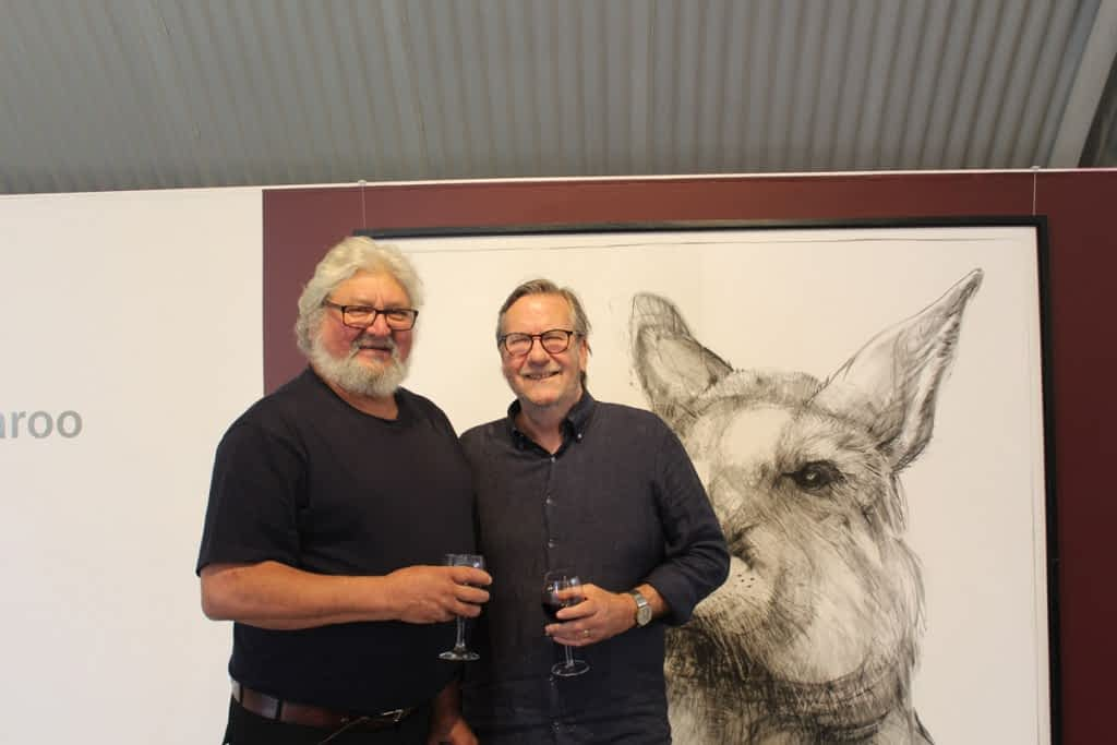 From the opening of Portrait of Kangaroo No. 4+1 photos courtesy of Alexandrina Council 2
