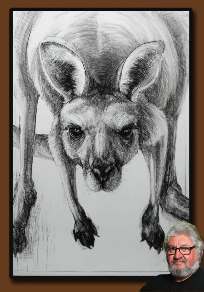 Drawing of Kangaroo 57 with Michael Chorney
