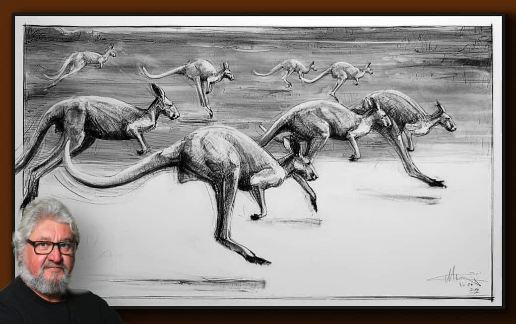 Drawing-of-Kangaroo-54-with Michael Chorney