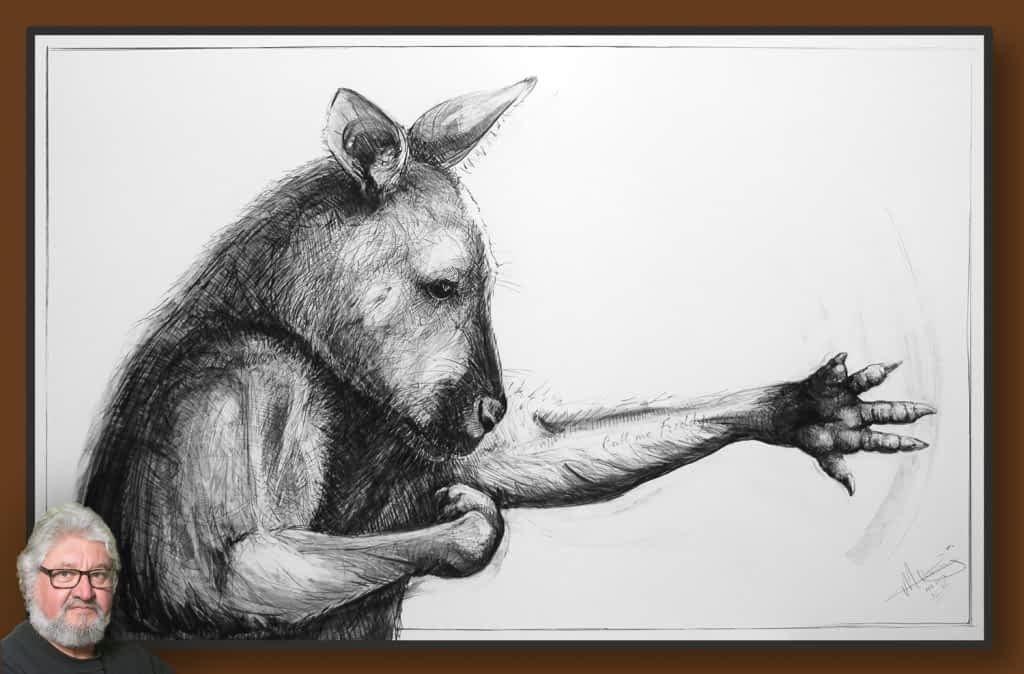 Portrait of Kangaroo 46 by Michael Chorney