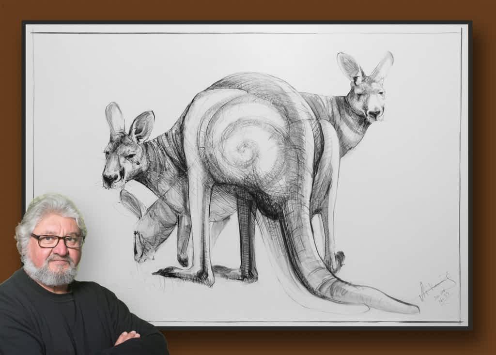 Drawing of Kangaroo 33