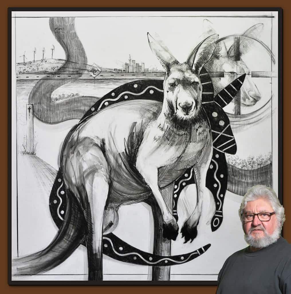 Drawing of Kangaroo 37