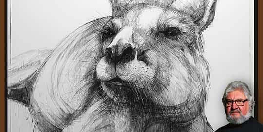 Drawing of Kangaroo 47 with MC by Michael Chorney