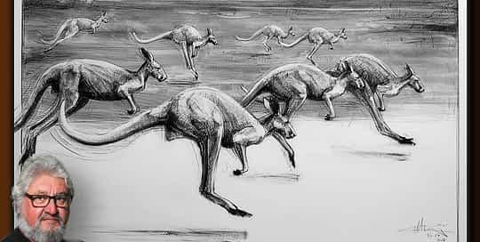Drawing-of-Kangaroo-54-with Michael Chorney