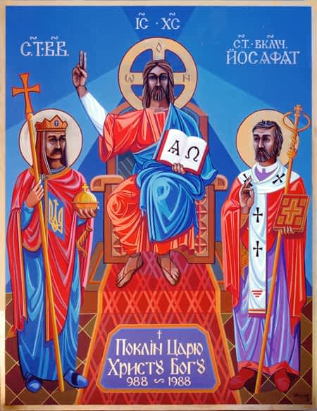 alter painting for Ukrainian Catholic Church Woolongong