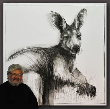 Drawing of Kangaroo No. 20 Australian Art