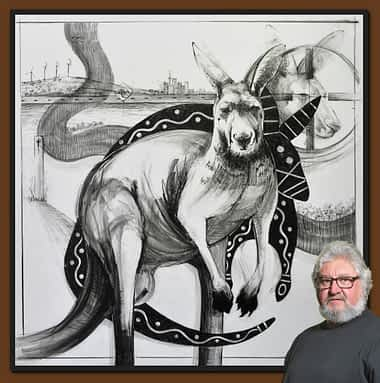 Drawing of Kangaroo No. 37