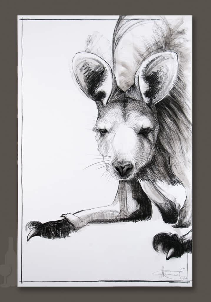 Kangaroo drawing 7 by Michael Chorney
